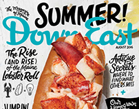 Down East Magazine Lettered Cover
