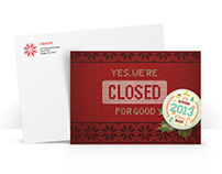 Capstrat 2013 Holiday Card & Webpage