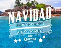 Cerveza Corona: Navidad transparente y única