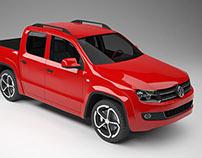 3D MODELING CAR VOLKSWAGEN AMAROK