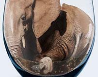 Elephant in Wine Glass