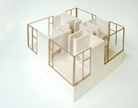 2 plaster models for NU architectuuratelier