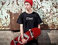 Bull skateboarding