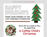 Cafe Femenino Foundation Holidays Fund Email Campaign