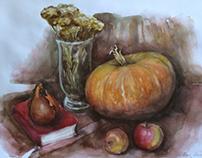 Watercolor still life 2013 october-december