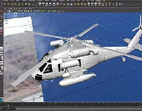 Cg helicopter in live action footage