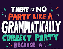 Grammar Party Poster