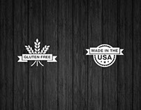 Gluten Free and Made in USA Icons