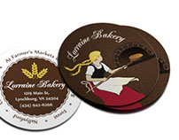 Bakery Round Business Cards and Branding