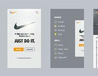 Nike App Design!