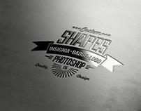 135 Insignia, Badge & Logo Custom Shapes