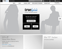 Wireframe: School uniform ecommerce site