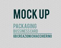 Mock UP Packaging + BussinessCard GB Creazioni