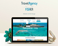 Travel Agency web design UX/UI