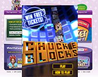 Chuck E. Cheese - Chuck E Blocks Game