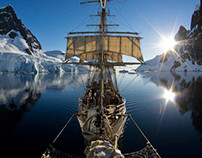The Bark Europa in Antarctica