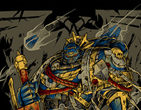 Warhammer prints.