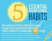 5 Essential Organizational Habits Infographic