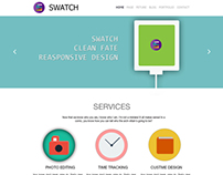 Flat color web template