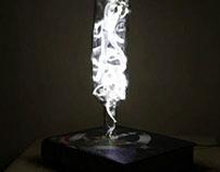 Book bottle lamp