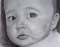 my son Tomás . graphite pencil on paper