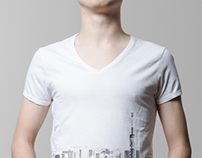 T-Shirt Mock-Up / V-Neck Male Model Edition