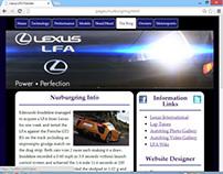 Website Layout & Design - LFA Fansite