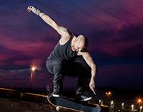 Skaterboarder Richie Banks