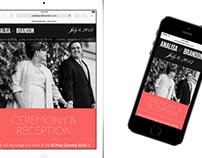 Analisa & Brandon Wedding Website