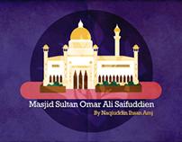 Graphic: Masjid Sultan Omar Ali Saifuddien