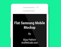 Flat Design Mockup - Samsung Mobile