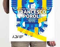 "Poster ""Visiting Professor"" Francesco Poroli / ABA 2014"