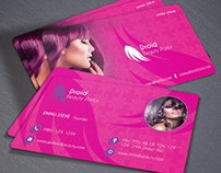 Beauty Parlor Business Card