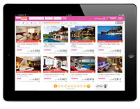 Asia Web Direct iPad Site UI