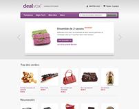 Dealvox Website - Design of Prestashop Template