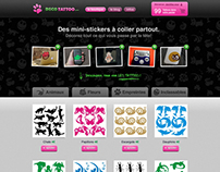 Decotattoo e-commerce - Design of a Prestashop theme.