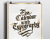 The Calendar with Typography | 2013