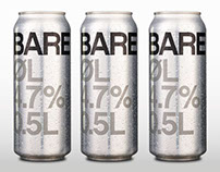 Beer label Bare øl (Just beer) - packaging