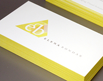 Self Promotion | Identity for Elena Bondar, Designer