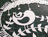 Mummy & Baby Bird Papercut Quote