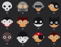"""Funny Minimal Faces"" - T-Shirt Idea 2011"