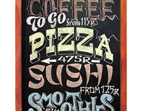 "Chalkboard for ""Smoothie & Coffee"" Cafe"