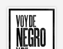 Voy de negro — Letterpress