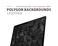 Polygon Backgrounds Leather