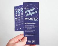 Wanted: Graphic Designer