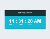 Jquery Realtime Clock Flatstyle