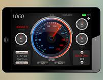 Speedometer iOS app (iPad)