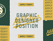 OAKLAND ATHLETICS GRAPHIC DESIGNER // APPLY TODAY!