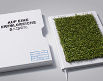"""GRUNDIG """"Book made out of football lawn"""" (Brochure)"""