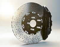 Carbon Ceramic Brakes - CGI & Retouching